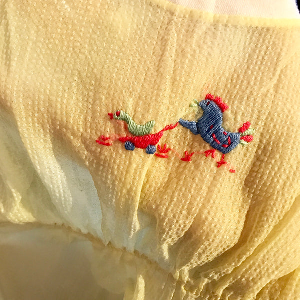 1960s Chicken Embroidered Onesie