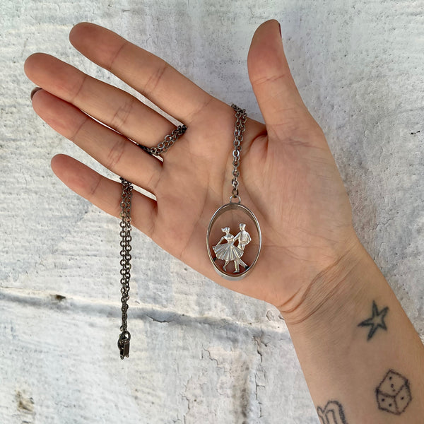 Vintage Red and Silver Leather Belt size 40