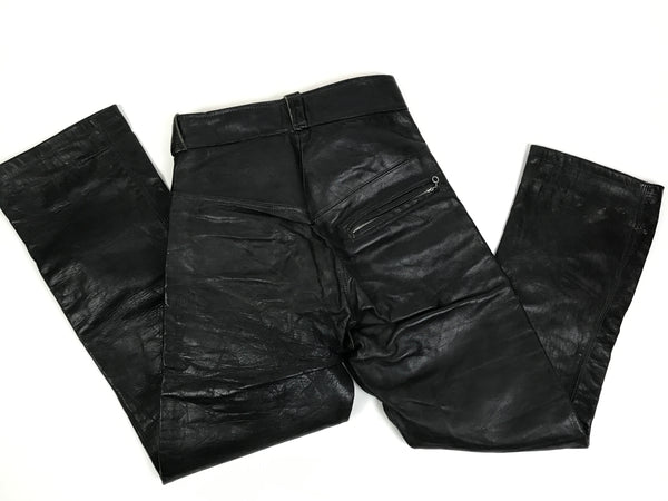 Vintage Leather Moto Pants