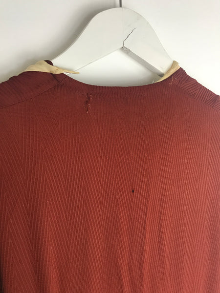1930s Ruched Crimson Dress