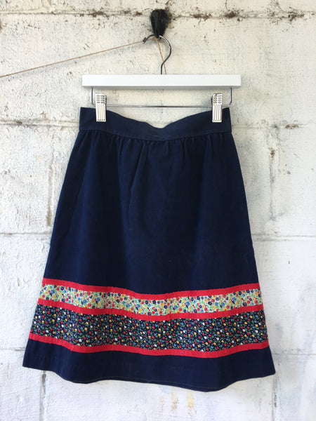 Vtg. Girl's 2-Piece Navy Set