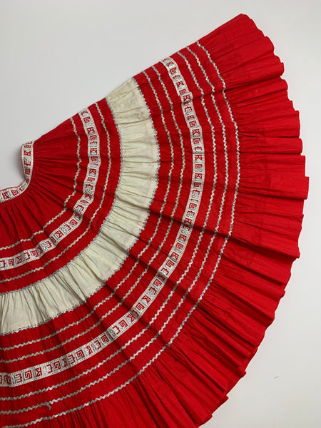 1960s Bright Red 2-Pc Western Set (S)