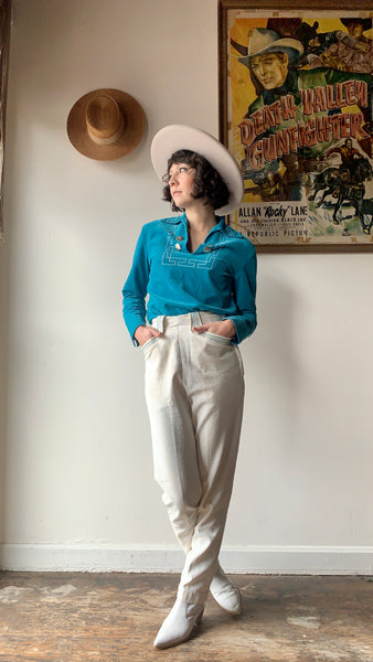 1960s-70s Uncle Sam Chambray Pants 28x29
