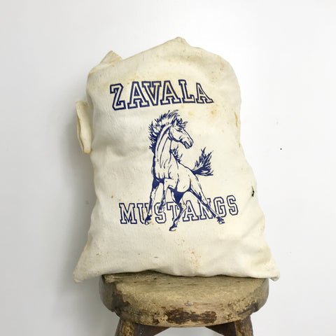 Vtg. Zavala Mustangs Drawstring Bag