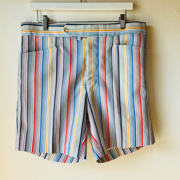 Vtg. Primary Striped Men's Shorts size 34