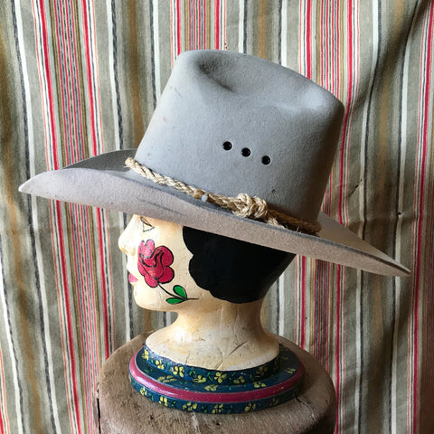 Size 7 1/8: Falcon Wide Brim Hat with Rope Band