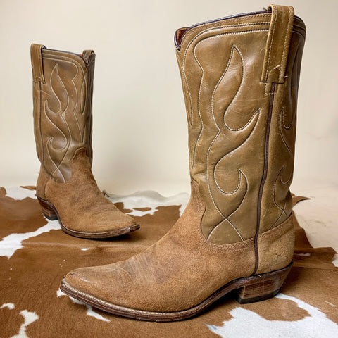 Vintage Brown Acme Boots women's 6.5-7