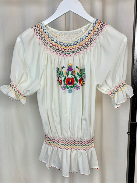 1960s Silk Hungarian Blouse (S)