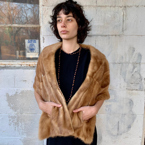 Vintage Mink Stole -as is-