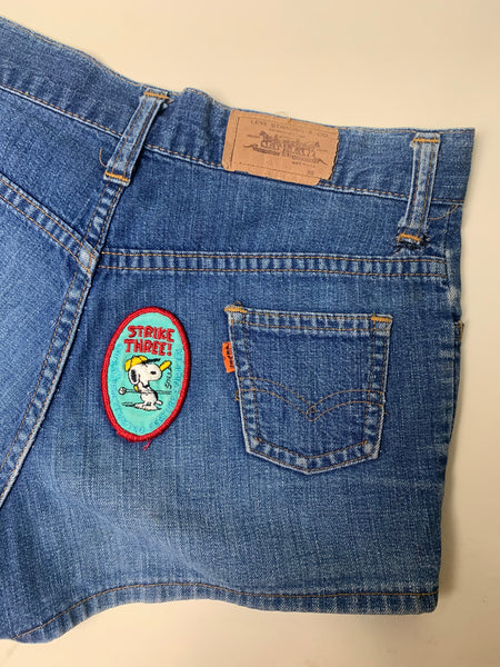 1960s Big E Levi's Patched Orange Tab Shorts 28W (Low Rise)