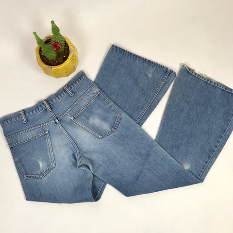 Lightwash Plain Pockets Flare Jeans 34 x 34