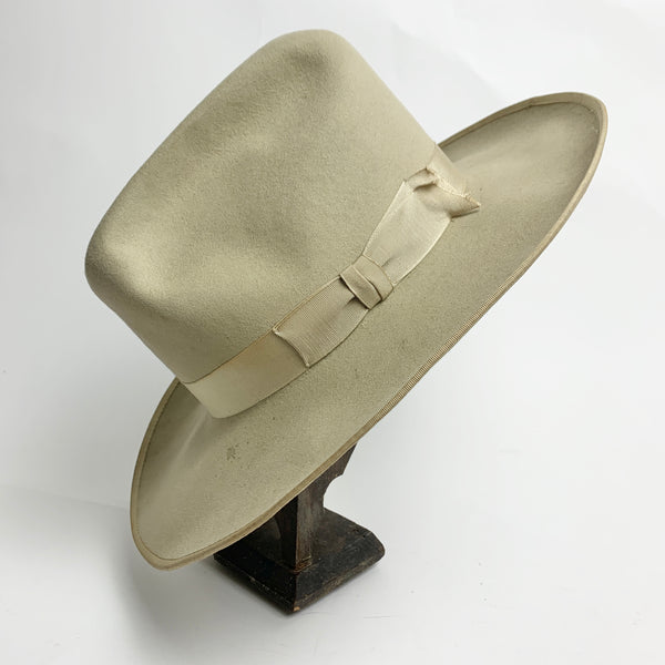 Size 7 1/8: 1960s Stetson Open Road Ribbon Brim Hat
