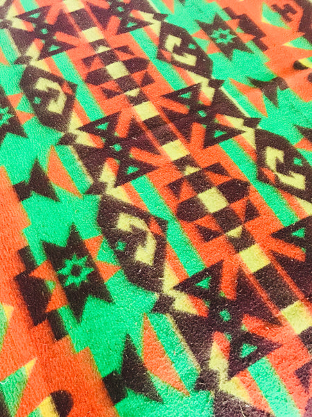 Vintage Orange, Green, and Brown Beacon Blanket