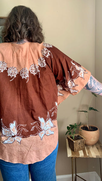 1960s Circle S Bandana & Lace Blouse (L)