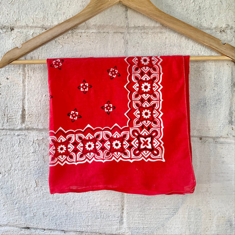 Vintage Red Colorfast Cotton Bandana