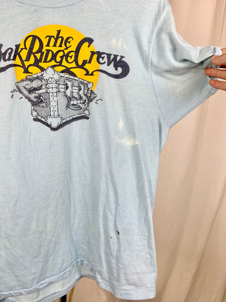 Vtg. The Oak Ridge Crew Baby Blue Tee (S/M)