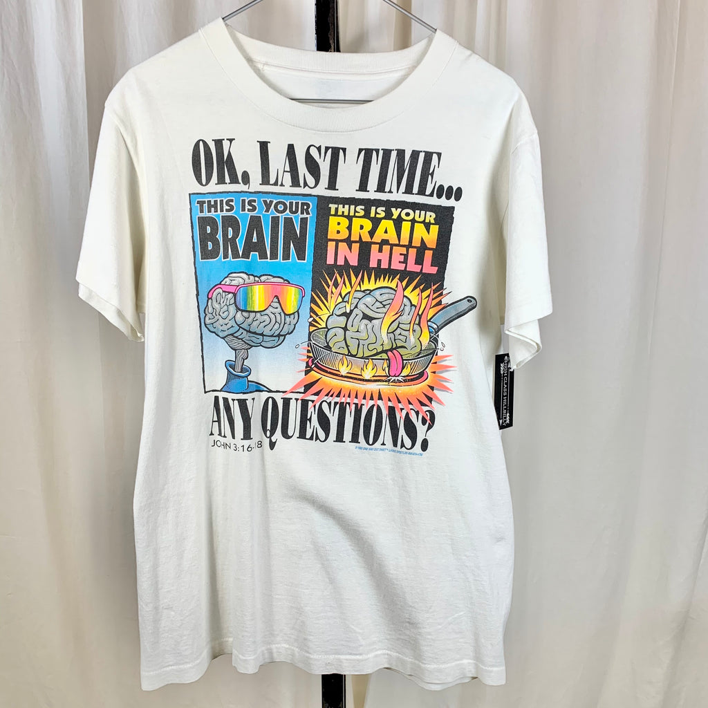 Vtg. Your Brain In Hell Tee (M/L)