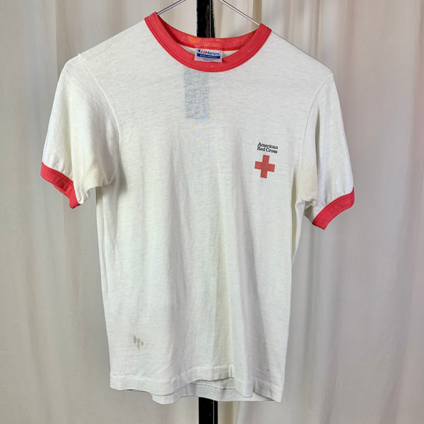 Vtg. American Red Cross Ringer Tee (S)