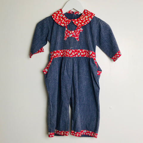 Vtg. Kid's Scottish Terrier Jumpsuit (2T)