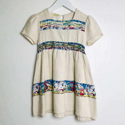1940s Girls Linen Day Dress (3-4T)