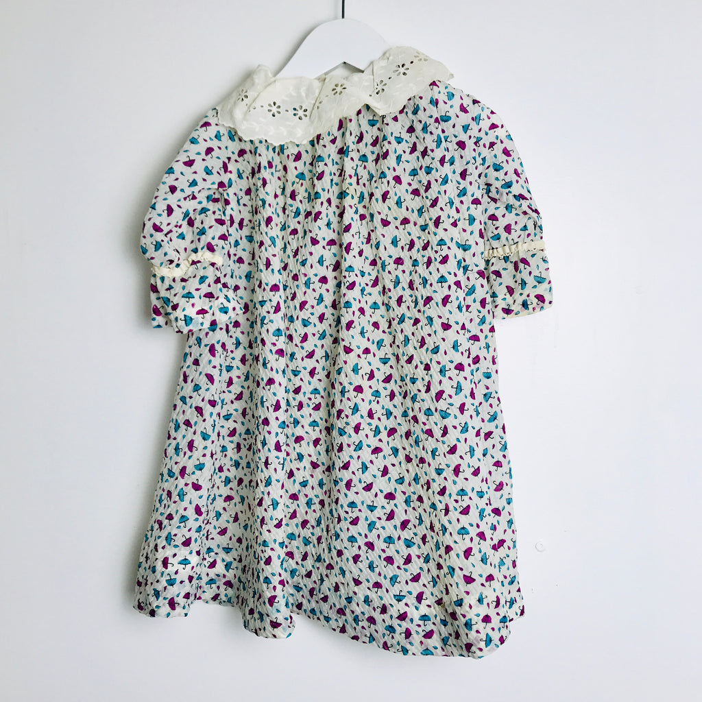 1940s Kid's Umbrella Printed Dress (1T)