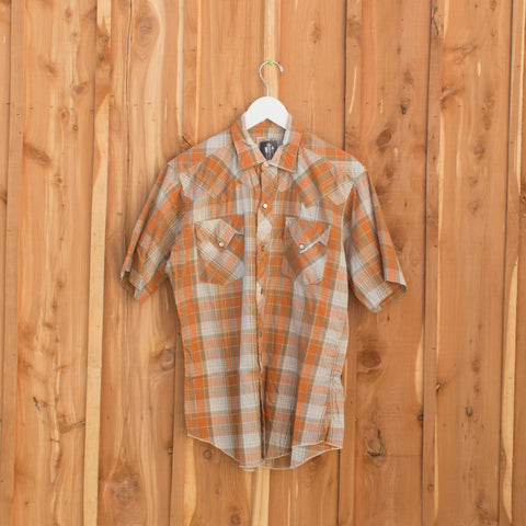 Orange and Gold Short Sleeve H Bar C Shirt