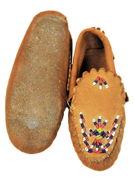 1950s Beaded Baby Moccasins