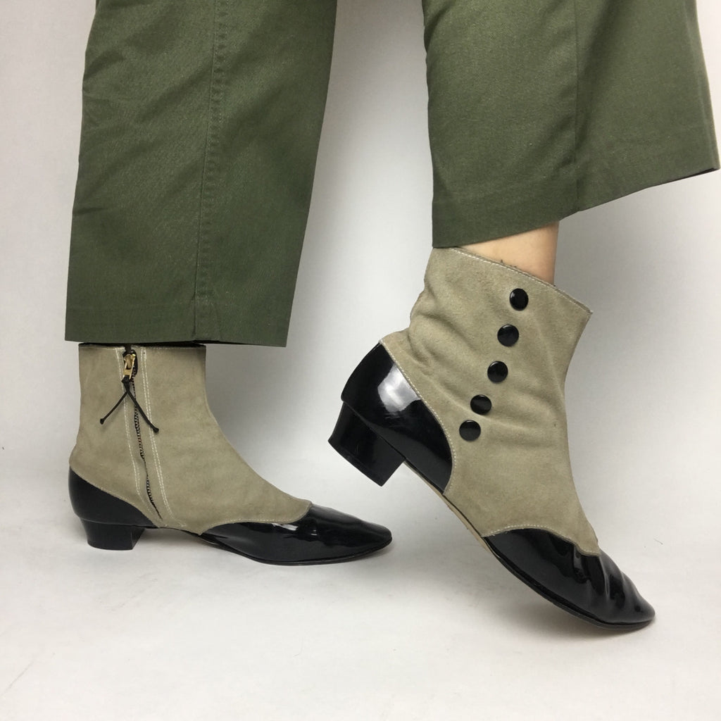 Victorian Inspired Vintage Heeled Boots women's 9