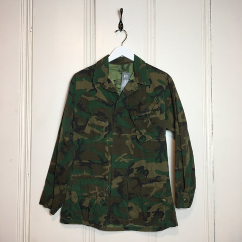 1970s Army Camo Button Down