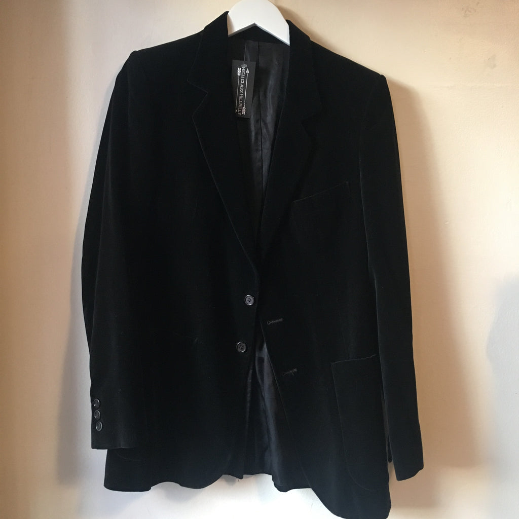 1970s Black Velour Blazer