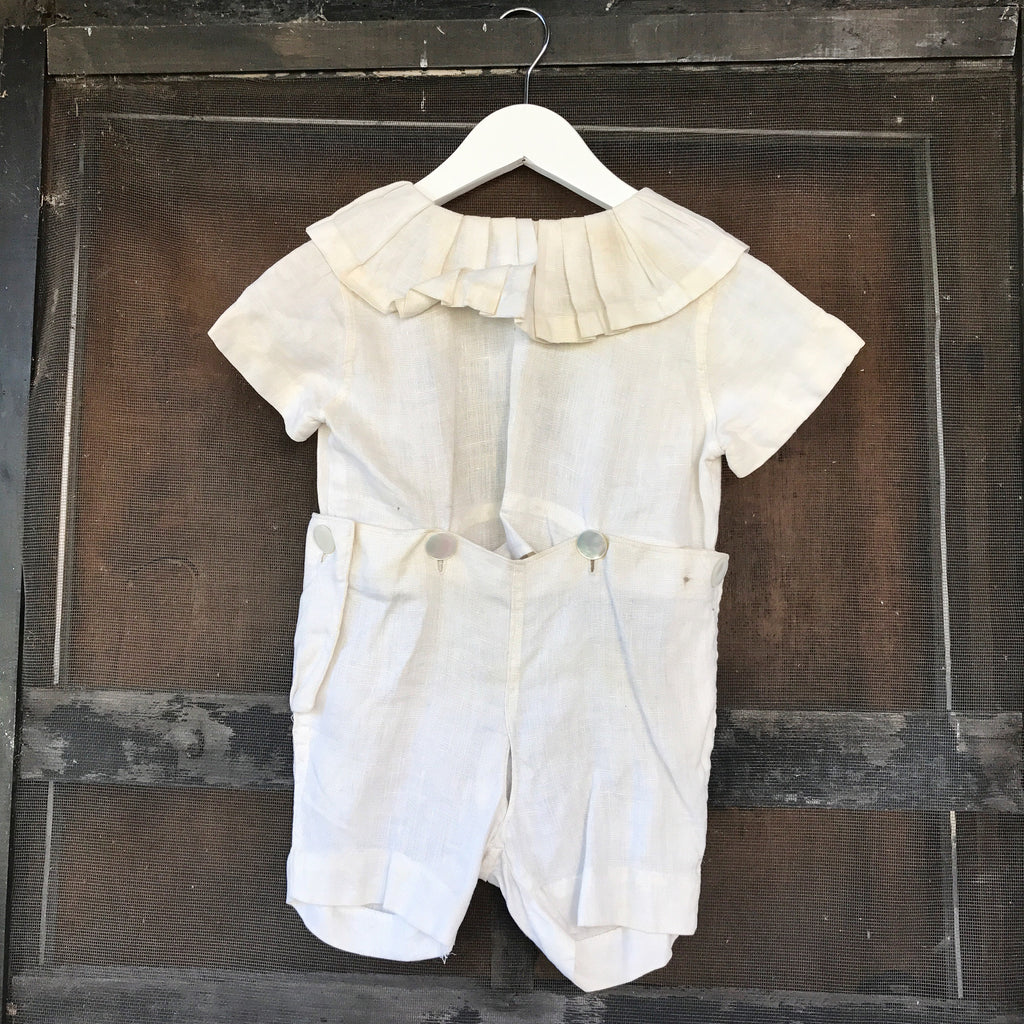 1940s Linen Baby Outfit