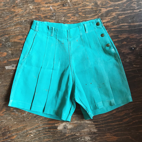 1950s High Waisted Mint Shorts