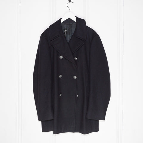 1960s Silver Button Naval Peacoat