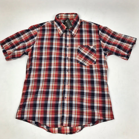 Wedgefield Plaid Short Sleeve Button Down