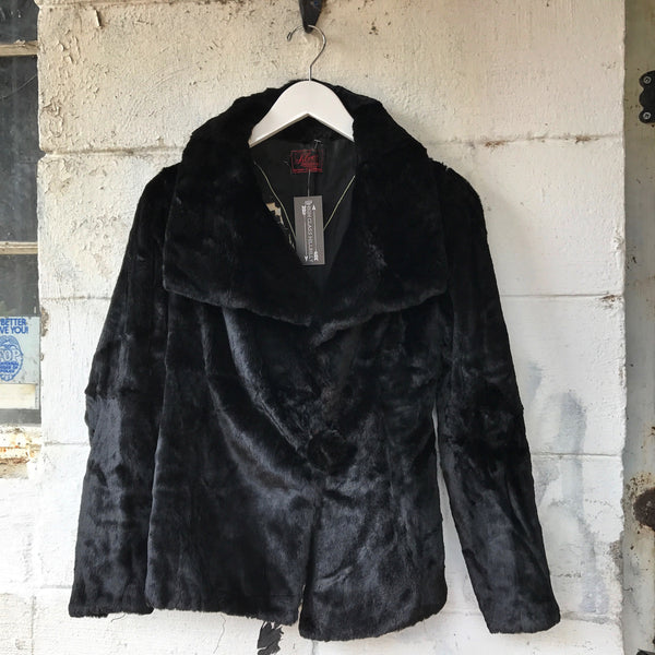 1940s Black Seal Fur Jacket -as is-