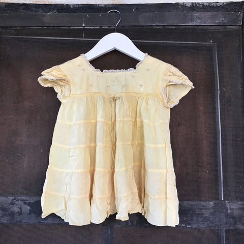 1950s Yellow Baby Dress