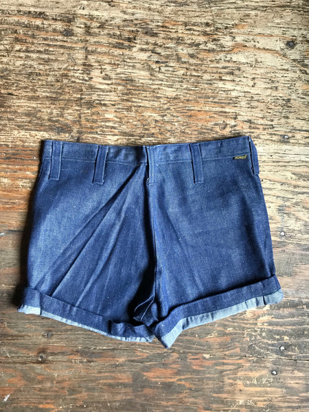 NOS Darkwash Chambray Shorts size 31