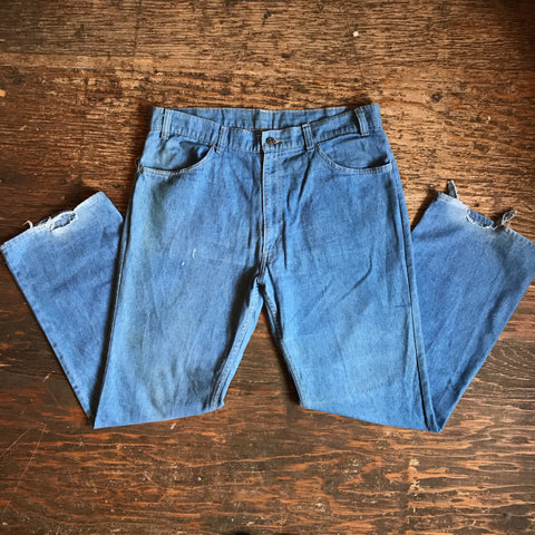 Vintage Orange Tab Denim Pants 37 x 30