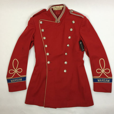 "1950s Red ""Warsaw"" Military Jacket"