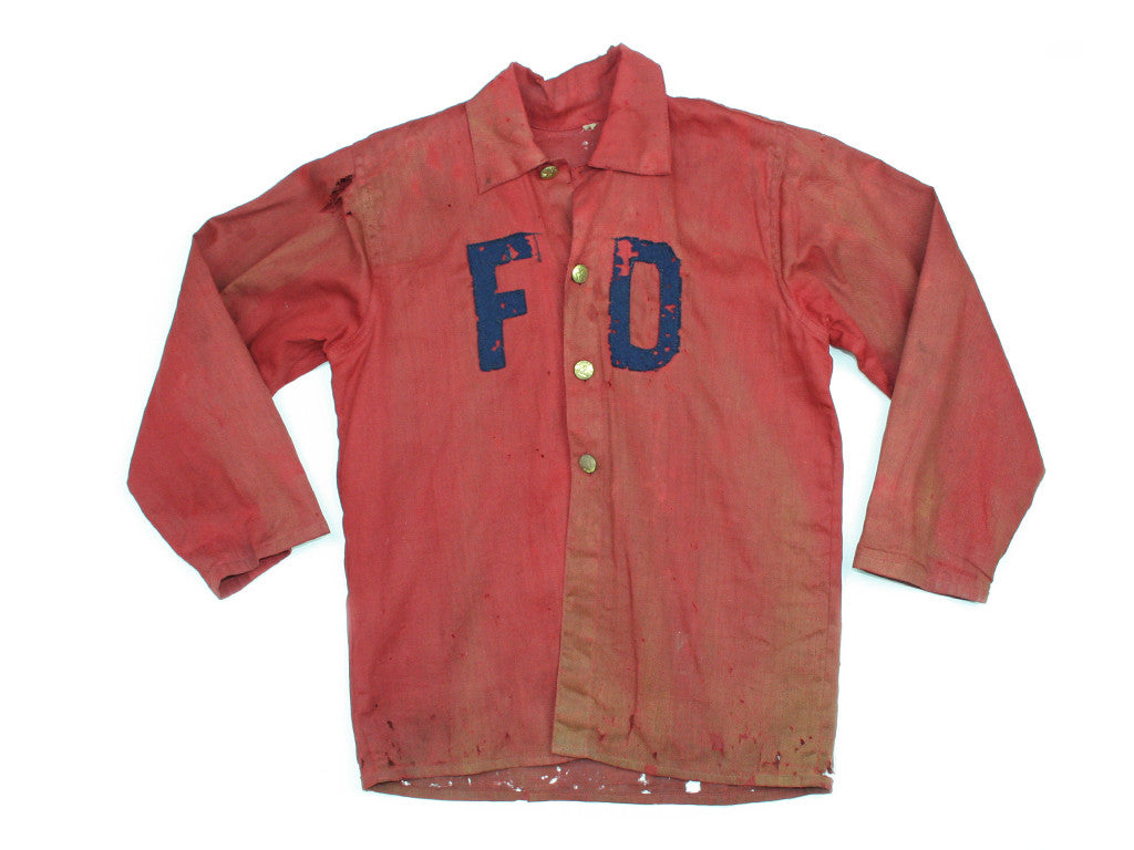 1930s Kids Fire Department Costume Shirt