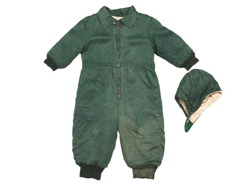 1940s Kids Snowsuit with Hat