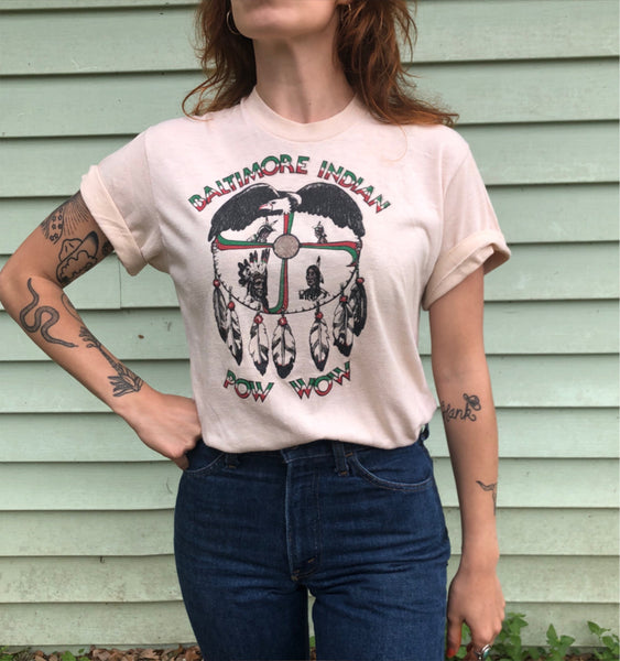 Vintage Baltimore Indian Pow Wow Tee (S/M)