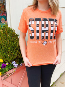 blk/wht Stripes OSU T-shirt
