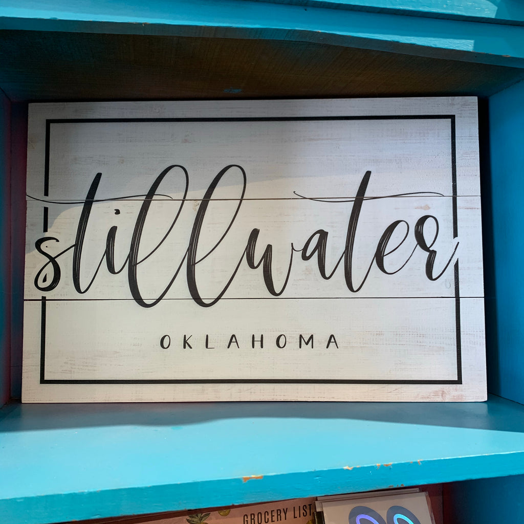 Script Stillwater Sign