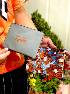 Sequin Gameday Wristlet