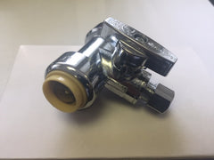 DS00325: Universal Quick Connection Water Valve with Shut-off for use with 1/2 inch PVC/Copper Pipe
