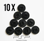10 x Black PSP Analog Joystick Button Caps (PSP 1000, 1003, 1004)