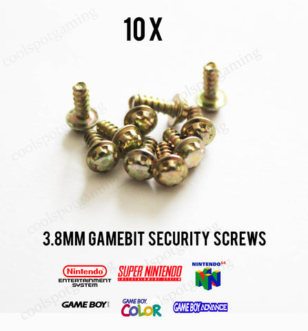 10 x 3.8mm Gamebit Security Screws
