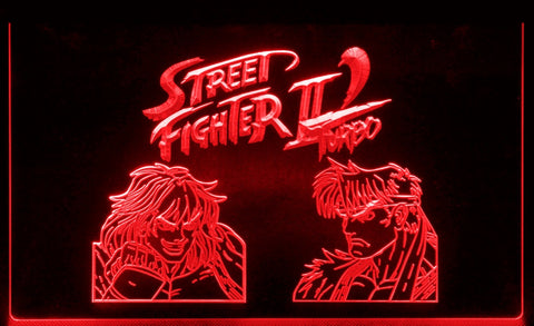 "Street Fighter II Turbo LED Neon Light Sign 3D Engraved (Size 12"" x 8"")"