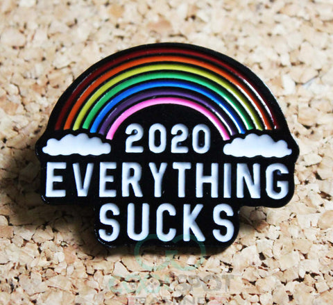 2020 'Everything Sucks' Rainbow Pin Badge